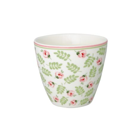 GreenGate Latte Cup Becher Lily Petit White