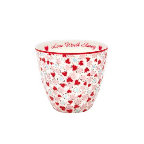 GreenGate Latte Cup Becher Love White