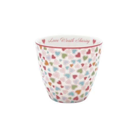 GreenGate Latte Cup Becher Love pastel mix
