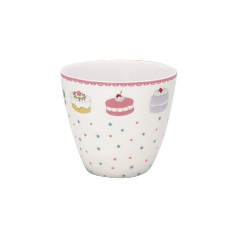 GreenGate Latte Cup Becher Madelyn White