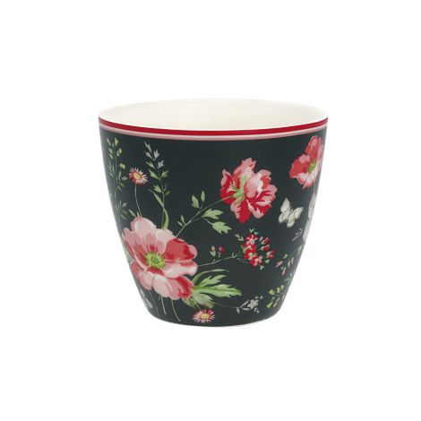 GreenGate Latte Cup Becher Meadow Black