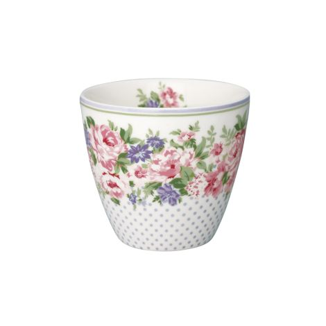 GreenGate Latte Cup Becher Rose White