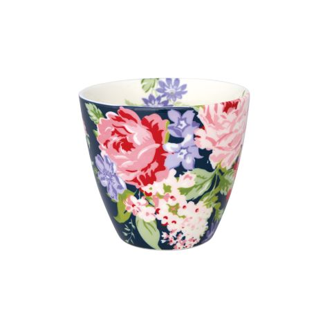 GreenGate Latte Cup Becher Rose Dark Blue