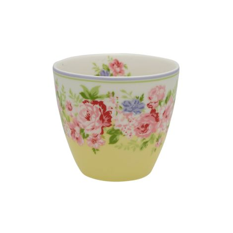 GreenGate Latte Cup Becher Rose Pale Yellow