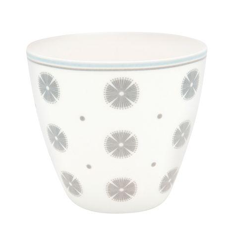 GreenGate Latte Cup Becher Saga White