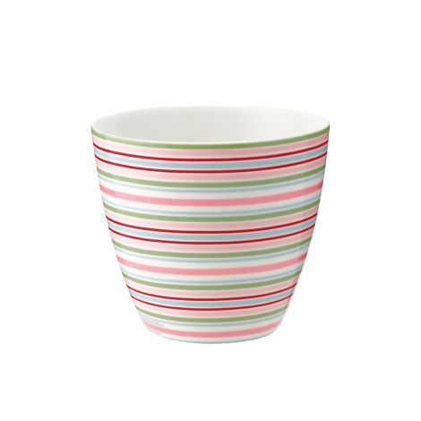 GreenGate Latte Cup Becher Silvia Stripe White