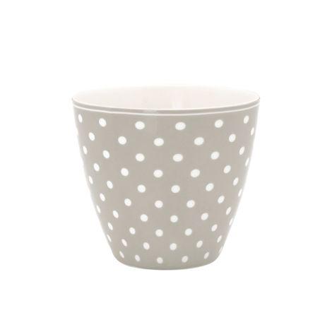 GreenGate Latte Cup Becher Spot Grey