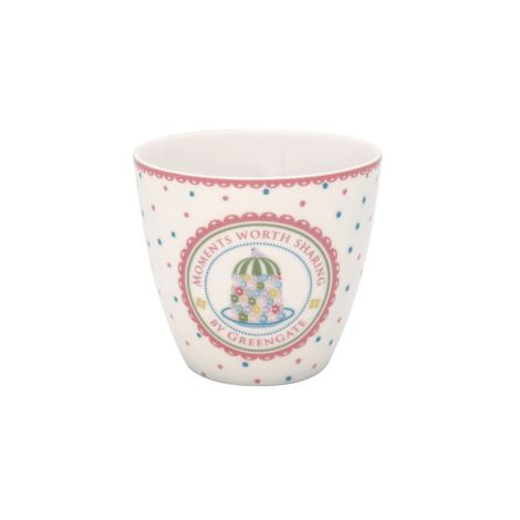 GreenGate Latte Cup Becher Tenna White