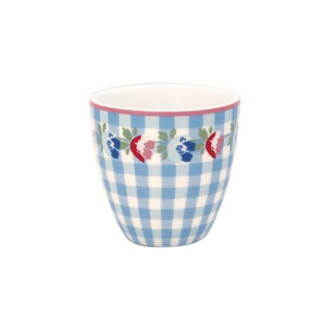 GreenGate Mini Latte Cup Becher Viola Check Pale Blue