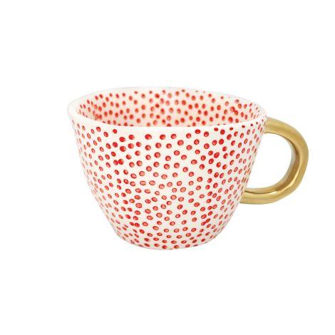 GreenGate Tasse Dot Red/Gold