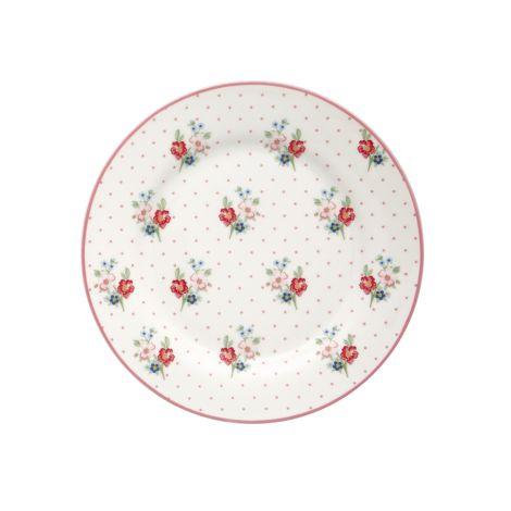 GreenGate Teller Eja White 20,5 cm