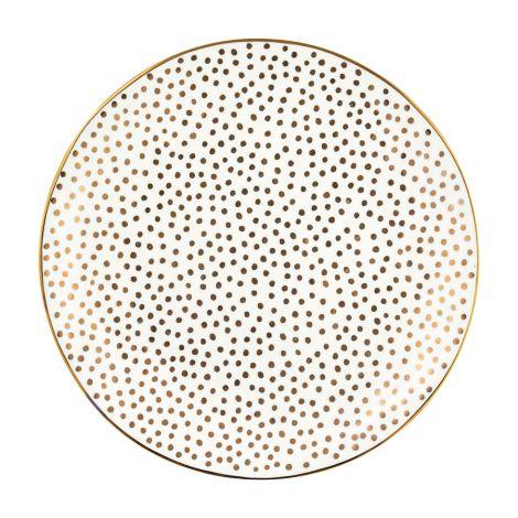 GreenGate Teller Dot Gold 21 cm