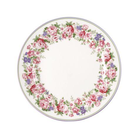 GreenGate Teller Rose White 20,5 cm