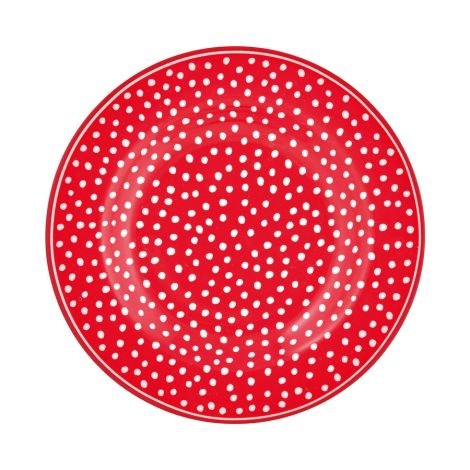 GreenGate Teller Dot Red 15 cm