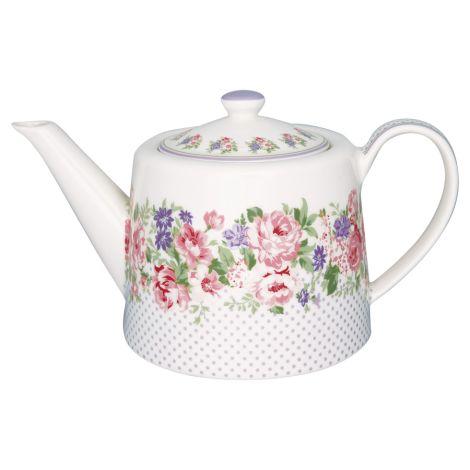 GreenGate Teekanne Rose White