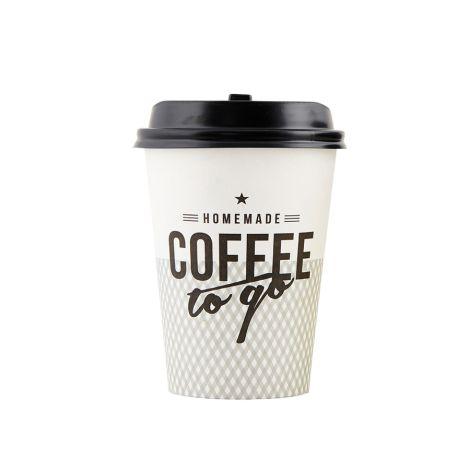 House Doctor Kaffeebecher To Go Grau mit Deckel 12er-Set •