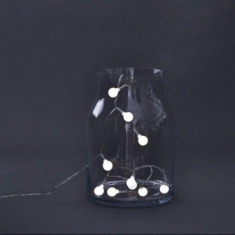 House Doctor Lichterkette Globe 15 LED lights