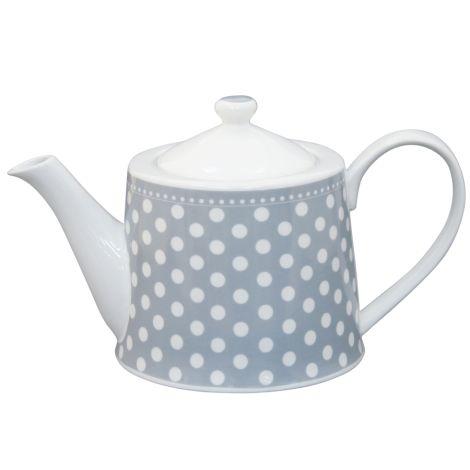Krasilnikoff Teekanne Dots Grey
