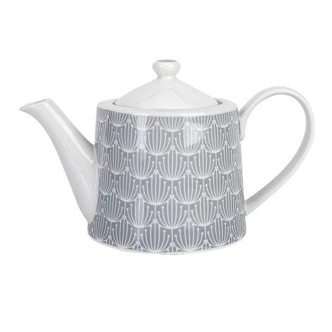 Krasilnikoff Teekanne Blossom Grey