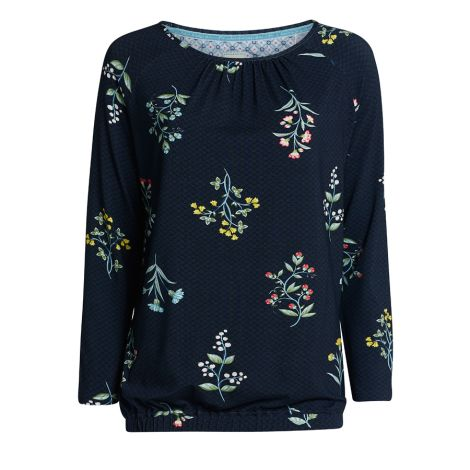 PIP Studio Langarm-Shirt Teddy Winter Wonderland Dark Blue