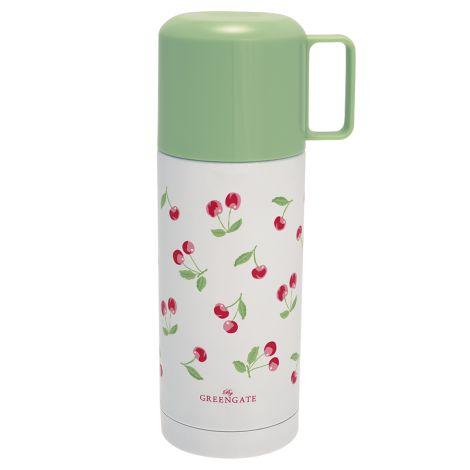 GreenGate Thermosflasche Cherry White 350ml •