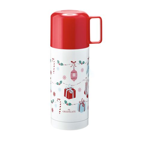 GreenGate Thermosflasche Jingle Bell White 350ml •