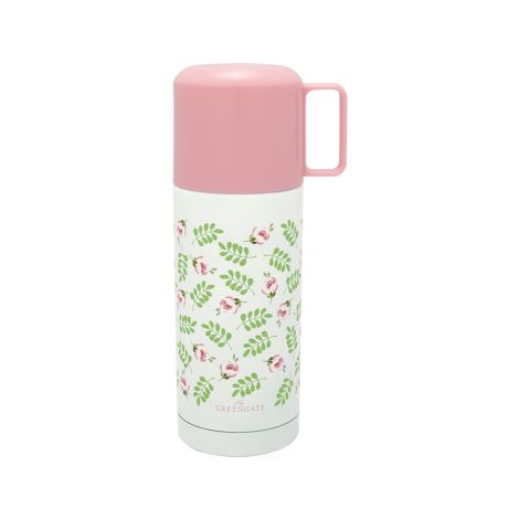 GreenGate Thermosflasche Lily Petit White 350ml •