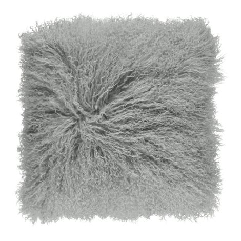 Natures Collection Tibetan Sheepskin Kissen Light Grey