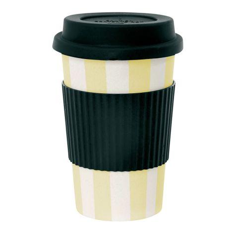 Miss Étoile Melamin Travel Mug Stripes Lemon
