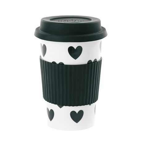 Miss Étoile Becher To-Go Big Hearts Black 0,5 L