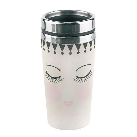 Miss Étoile Melamin Travel Mug To-Go Eyes And Dots 500ml