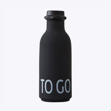 Design Letters Wasserflasche TO GO Black