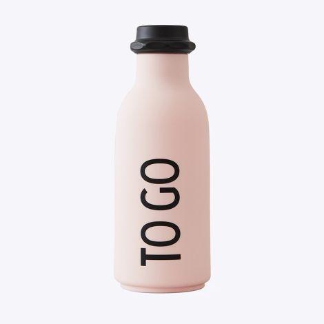 Design Letters Wasserflasche TO GO Pink •
