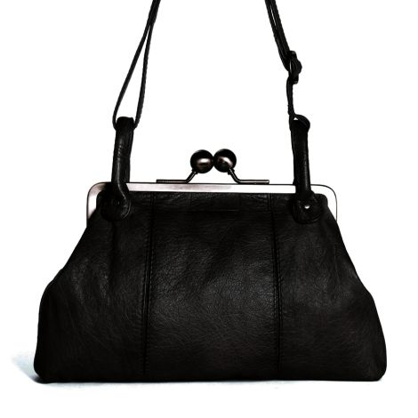 Sticks and Stones Ledertasche Toulouse Black Washed