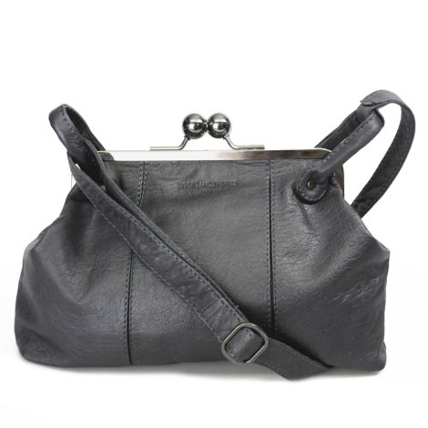 Sticks and Stones Ledertasche Toulouse Anthracite Washed
