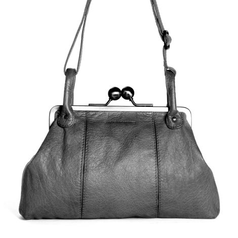 Sticks and Stones Ledertasche Toulouse Light Grey Washed