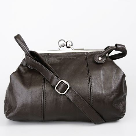 Sticks and Stones Ledertasche Toulouse Dark Brown