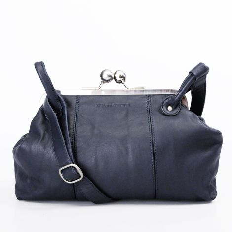 Sticks and Stones Ledertasche Toulouse Navy Blue