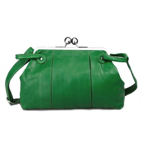 Sticks and Stones Ledertasche Toulouse Palm Green •