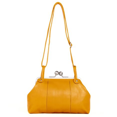 Sticks and Stones Ledertasche Toulouse Deep Yellow •