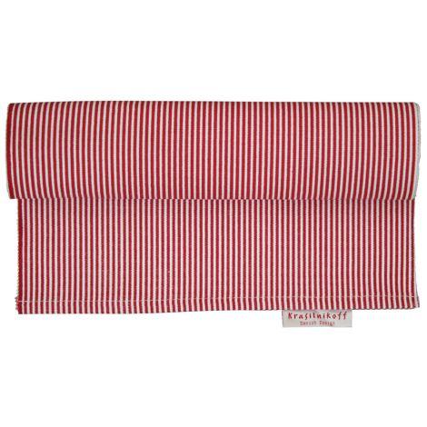 Krasilnikoff Tischläufer Thin Stripes Red