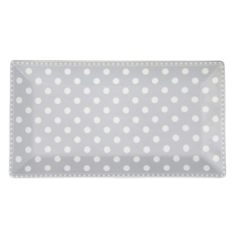 Krasilnikoff Servierplatte Dots Grey