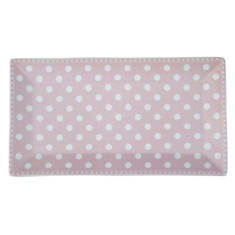 Krasilnikoff Servierplatte Dots Pink