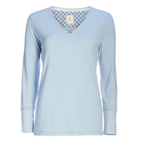 PIP Studio Langarm-Shirt Trix Uni Melee Blue