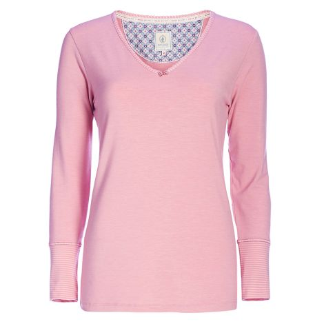 PIP Studio Langarm-Shirt Trix Uni Melee Pink