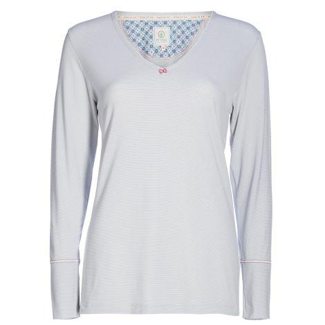 PIP Studio Langarm-Shirt Trix Stripers Grey