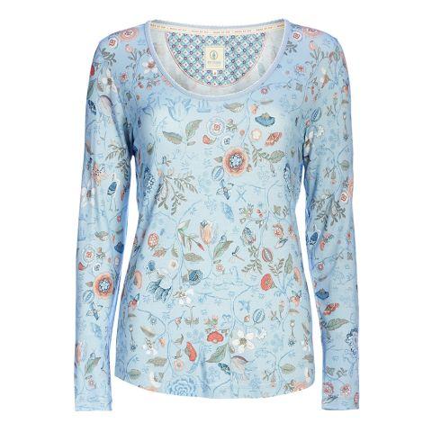PIP Studio Langarm-Shirt Trixy Spring To Life Blue
