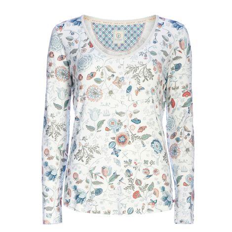 PIP Studio Langarm-Shirt Trixy Spring To Life Off White
