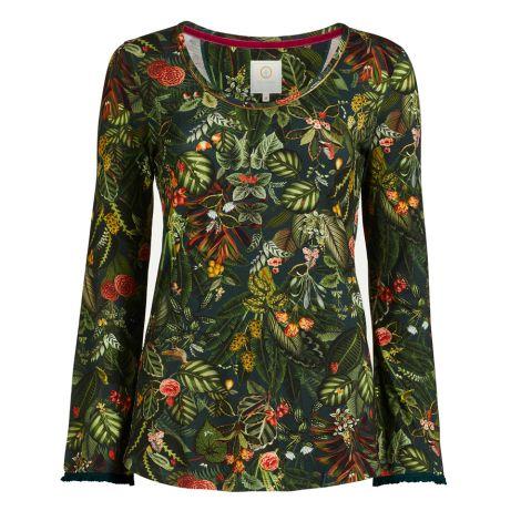 PIP Studio Langarm-Shirt Tromp Forest Foliage Green