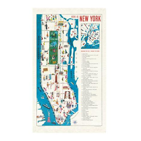 Cavallini Geschirrtuch New York Map